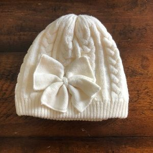 Warm Knitted Baby Girl Cotton Lined Winter Hat